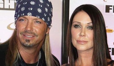 **FILE** Singer Bret Michaels and girlfriend Kristi Gibson attend Muhammad Ali Celebrity Fight Night XVII in Phoenix on March 19, 2011. (Associated Press)