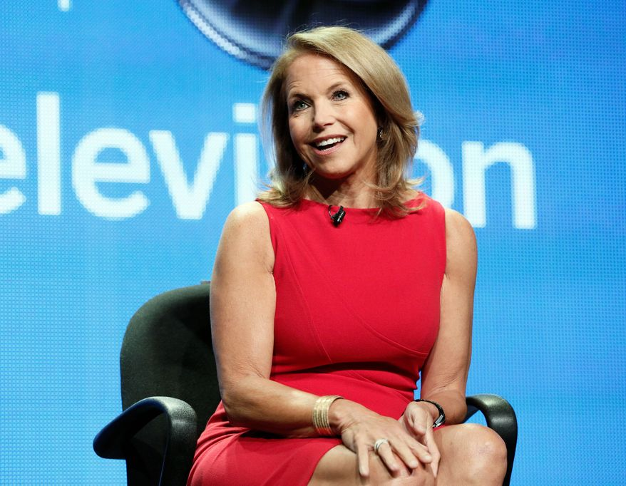 "Katie Couric attends the Disney ABC panel for her talk show ""Katie"" at the Beverly Hilton Hotel on Thursday, July 26, 2012, in Beverly Hills, Calif. (Photo by Todd Williamson/Invision/AP)"