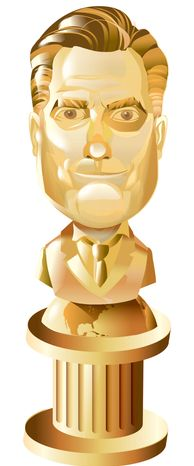 Illustration Romney Bust by Linas Garsys for The Washington Times
