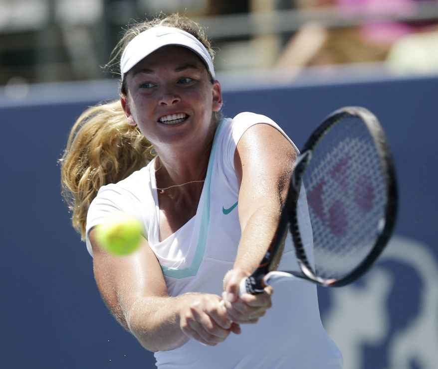 Coco Vandeweghe is one of three United States women in the quarterfinals at the Citi Open. None of them are older than 23 years old. (AP Photo/Marcio Jose Sanchez)