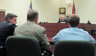 Associated Press  Warren County Juvenile Court Judge Mike Powell speaks to Tyler Pagenstecher (right) during a hearing in Lebanon, Ohio. Tyler, a 17-year-old supposed to be starting his senior year in three weeks, pleaded guilty to drug-trafficking charges.