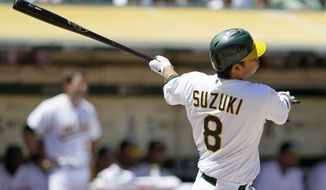 Kurt Suzuki will provide a veteran presence behind the plate for the Nationals. (AP Photo/Eric Risberg)