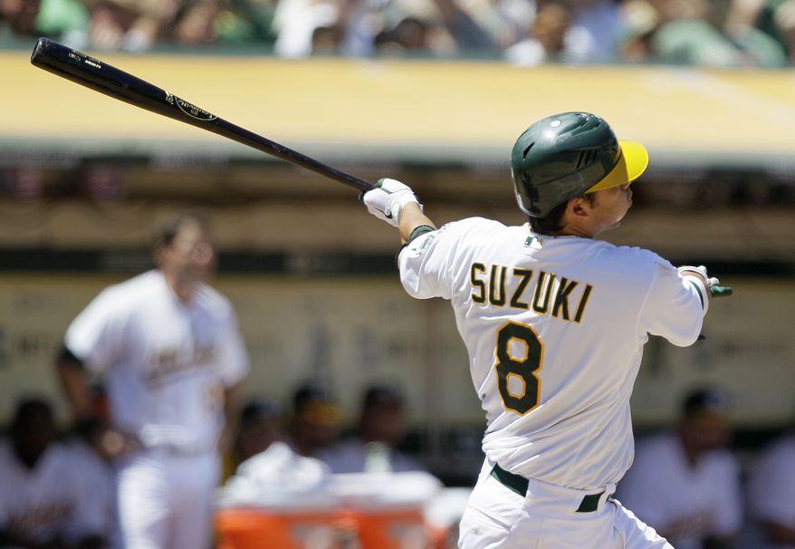 Kurt Suzuki will provide a veteran presence behind the plate for the Nationals. (AP Photo/Eric Risberg)