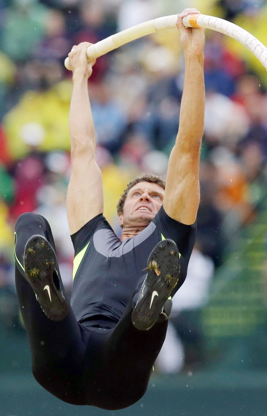 Favored to win a medal, pole vaulter Brad Walker failed to qualify for the final at the Beijing Olympics. He wants to put that disappointment behind him in London. (Associated Press)