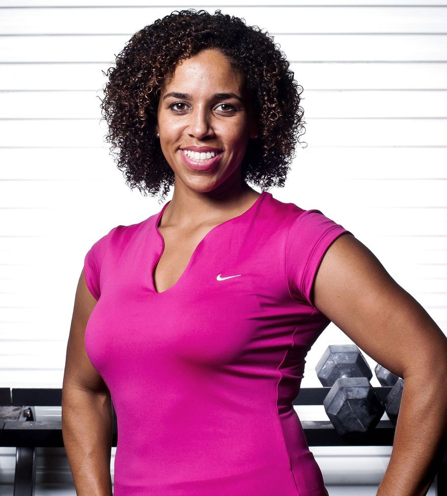 Former Olympic weightlifter Cara Heads operates the business she owns, CH Fitness in Arlington. (Ryan M.L. Young/The Washington Times)