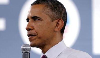 **FILE** President Obama campaigns July 16, 2012, at the Cincinnati Music Hall in Cincinnati. (Associated Press)
