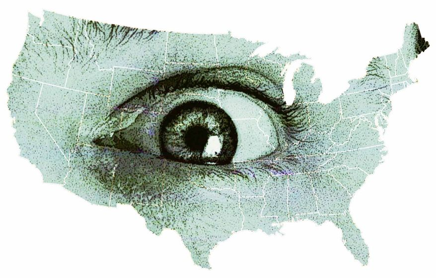 Illustration: Big Brother's Eye (Greg Groesch/The Washington Times)