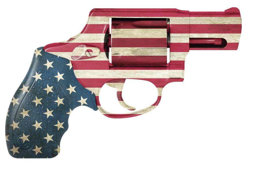 Illustration Flag Gun by Linas Garsys for The Washington Times
