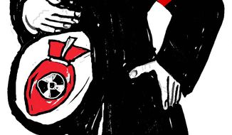 Illustration Radical Iran by John Camejo for The Washington Times