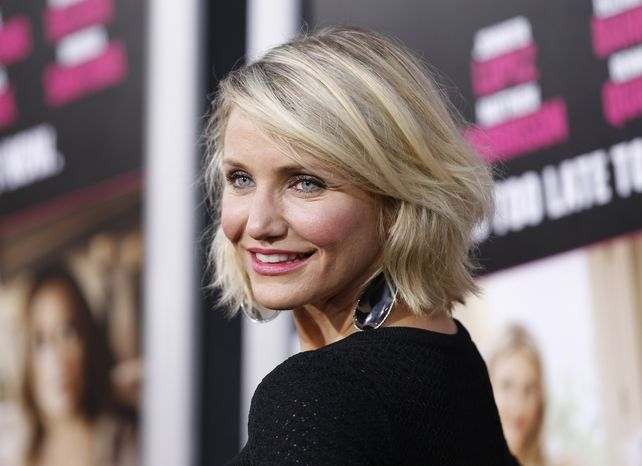"""Actress Cameron Diaz attends the Los Angeles premiere of her film """"What to Expect When You're Expecting"""" on Monday, May 14, 2012. (AP Photo/Danny Moloshok)"""