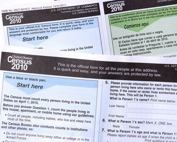 The 2010 census forms (AP Photo/Ross D. Franklin) ** FILE **