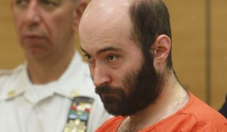 ** FILE ** Levi Aron, accused of abducting and dismembering Brooklyn boy Leiby Kletzky, is arraigned in Brooklyn Criminal Court in New York on Thursday, Aug. 4, 2011. (AP Photo/Jesse Ward, Pool)