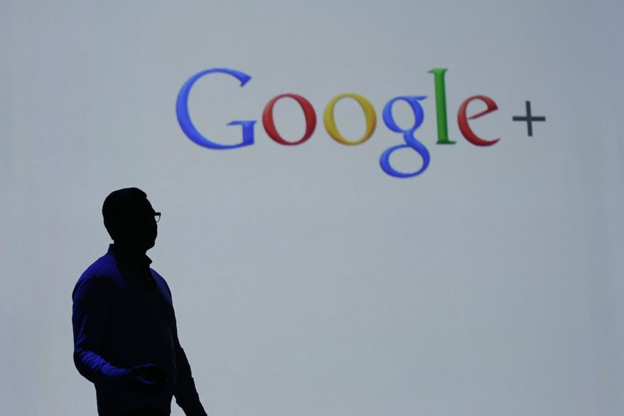 **FILE** Vic Gundotra, Google senior vice president of engineering, talks June 27, 2012, about Google Plus at the Google I/O conference in San Francisco. (Associated Press)