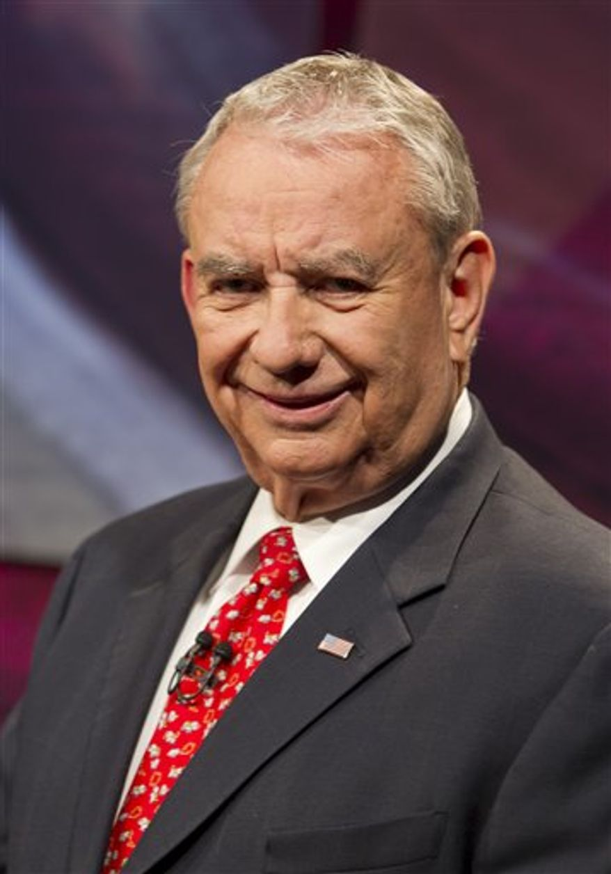 ** FILE ** Former Wis. Gov. Tommy Thompson is seen here Aug. 10, 2012, in Madison, Wis. (Associated Press)