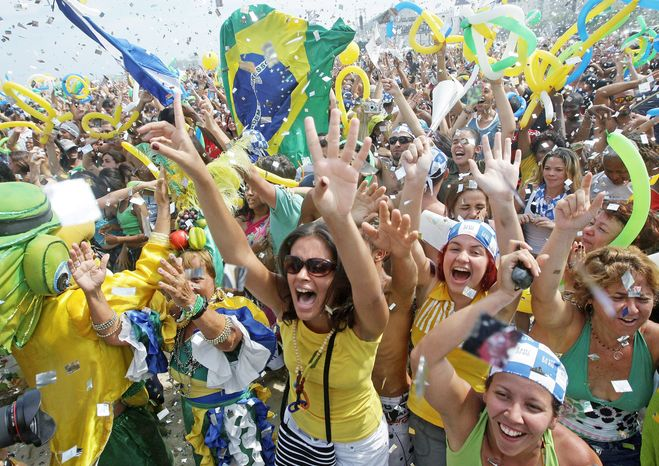 Celebration erupted in Rio de Janeiro in 2009 when the city was chosen as the first place in South America to host the Olympics. Brazilians regard the 2016 Games as their grand entrance onto the world stage, and officials already are getting jitters as the city undertakes a massive infrastructure overhaul. (Associated Press)