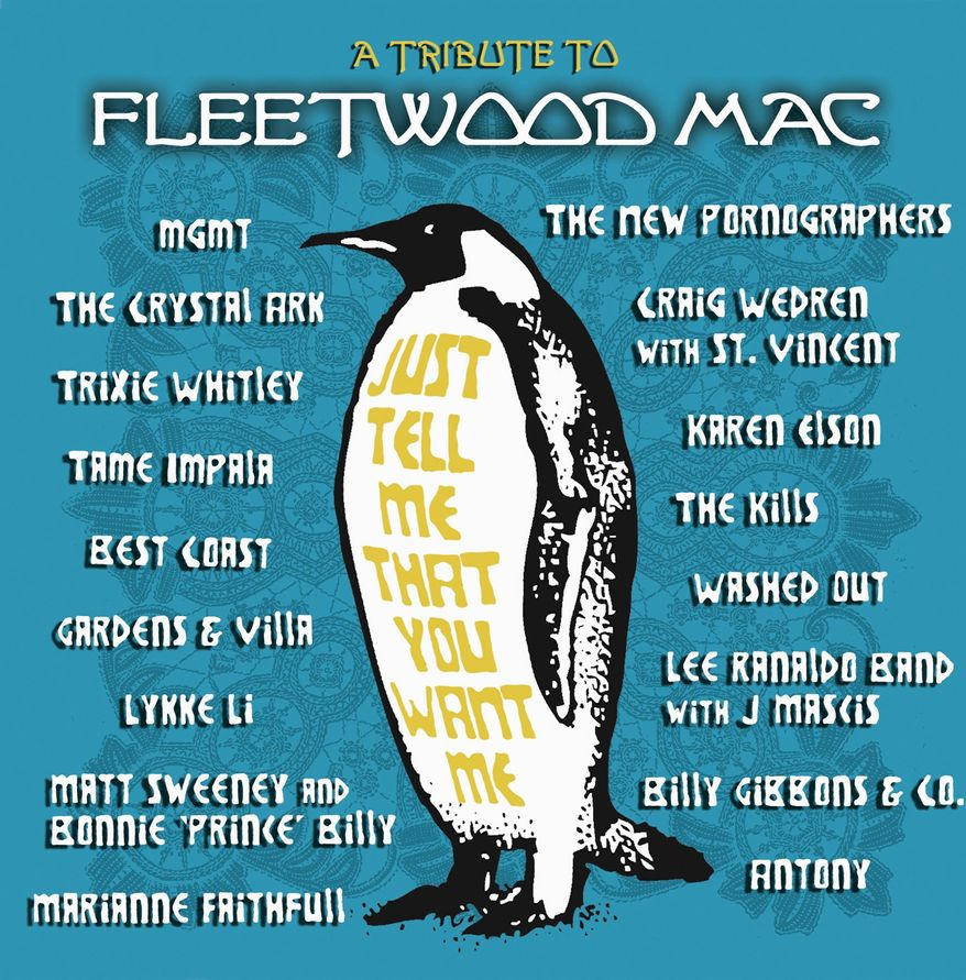 """Album cover for """"Just Tell Me That You Want Me - A Tribute to Fleetwood Mac""""."""