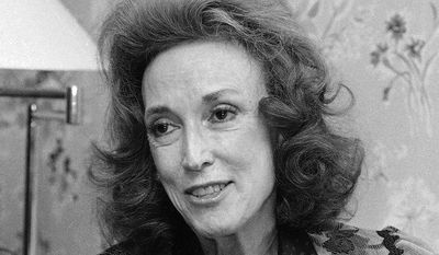 **FILE** Cosmopolitan editor Helen Gurley Brown is seen here Sept. 20, 1982, during an interview at her office in New York. (Associated Press)