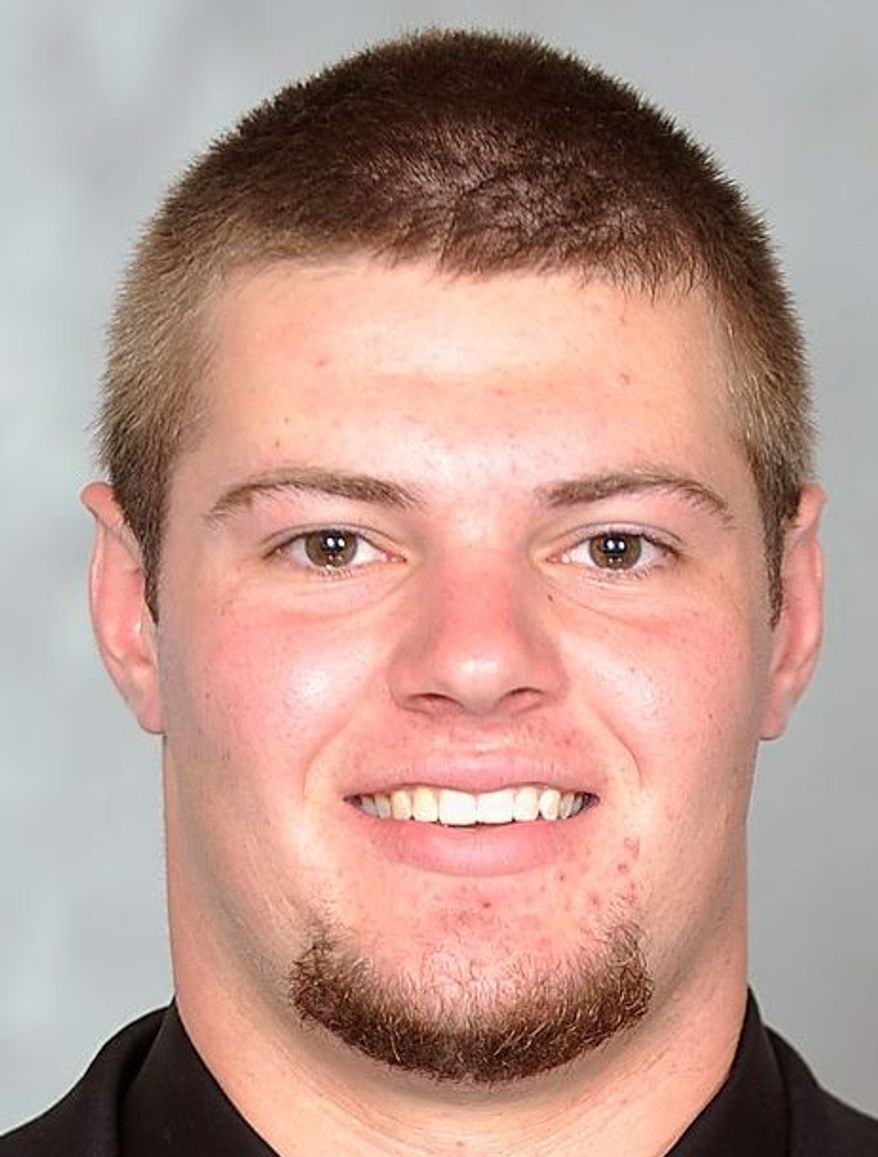 Maryland left tackle Nick Klemm has a starting job after last year's starting tackles transferred. (Maryland Athletics)