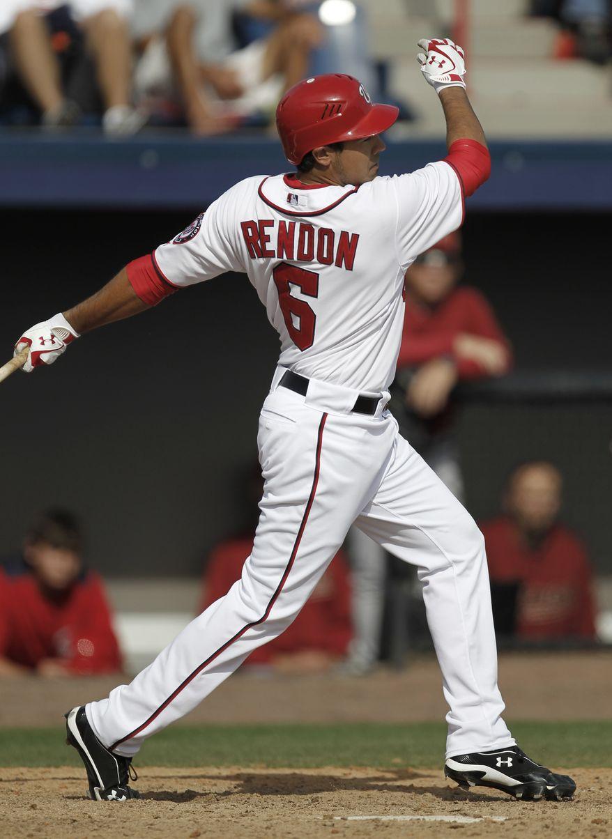 **FILE** Third baseman Anthony Rendon (Associated Press)