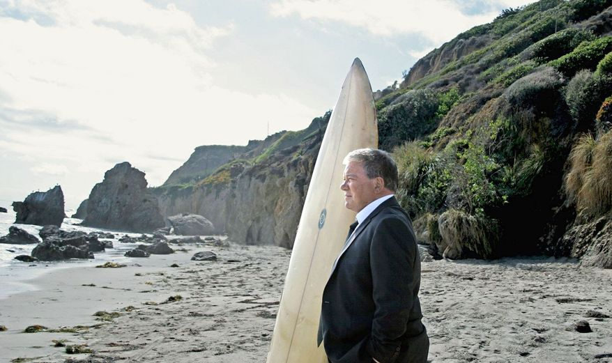 William Shatner, who plunged off a cliff in a Priceline.com commercial seven months ago, is back as the Negotiator, but on a beach with a surfboard and the legs on his business suit rolled up. The 30-second TV and online spot debuts Thursday. (Associated Press)