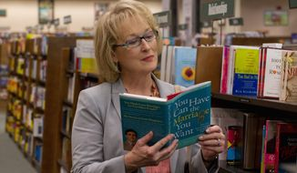 """For Meryl Streep's character in the new film """"Hope Springs,"""" the pursuit of a """"real marriage"""" after the fire has gone out takes her to a bookstore, among other places. This film image released by Columbia Pictures shows Meryl Streep as Kay Soames in a scene from """"Hope Springs."""" (AP Photo/Columbia Pictures-Sony, Barry Wetcher)"""