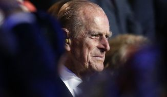 Britain's Prince Philip, the Duke of Edinburgh, attends the opening ceremony of the 2012 Summer Olympics on Friday, July 27, 2012, in London. (AP Photo/Jae C. Hong)