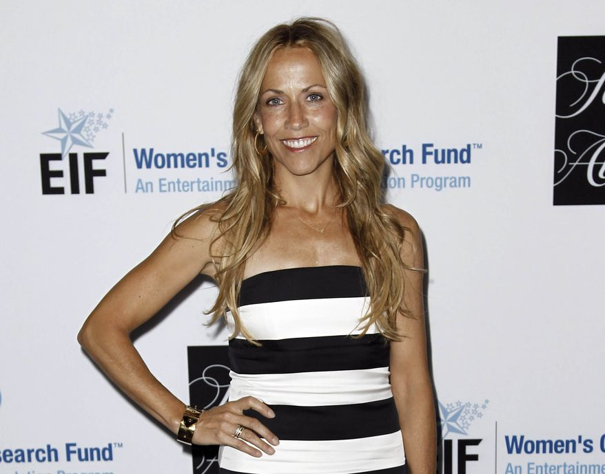 "Singer-songwriter Sheryl Crow attends the Entertainment Industry Foundation's ""Unforgettable Evening"" in Beverly Hills, Calif., on Wednesday, April 18, 2012. (AP Photo/Matt Sayles)"