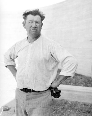 Jim Thorpe won Olympic gold, only to have his medal taken away in a controversy over his amateur status. He was a standout athlete in many sports and helped found what became the National Football League. He led a sometimes troubled life and at the time of this 1931 photo he was working as a laborer at the site of the new Los Angeles County Hospital. (Associated Press)