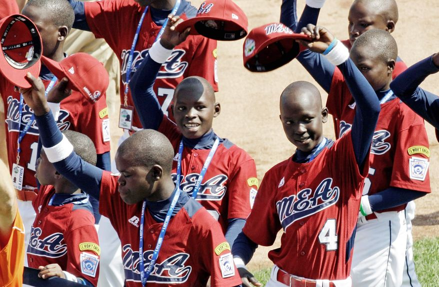 The Little League players from Lugazi, Uganda, are used to overcoming tough challenges, but face an uphill battle against 15 other teams. Their first-round game is against Panama. (Associated Press)
