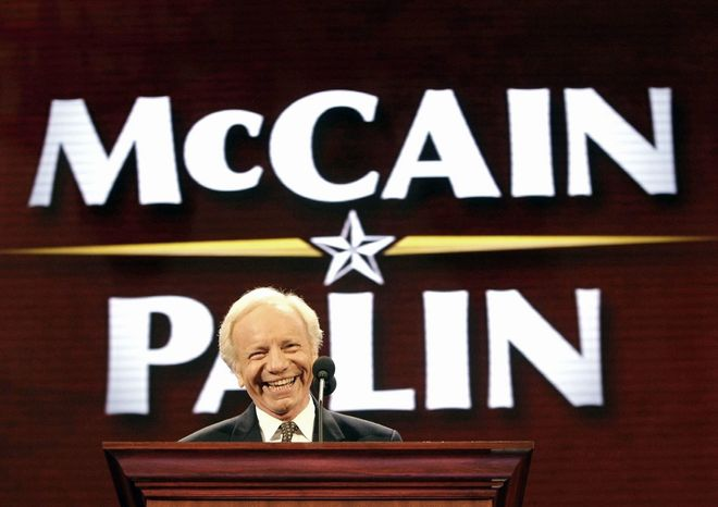 Sen. Joe Lieberman, Connecticut Democrat-turned-independent, addressed the Republican National Convention in St. Paul, Minn., on Sept. 2, 2008, a little more than a week after maverick former Rep. Jim Leach, Iowa Republican, spoke at the Democratic National Convention in Denver, on Aug. 25 of that year. (Associated Press)