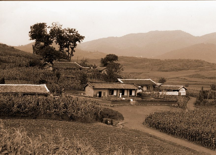 The Rev. Sun Myung Moon was born in this home in North Korea in 1920. (Courtesy H.S.A.-U.W.C.)