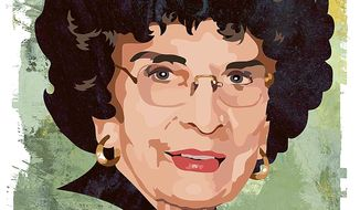 Illustration Nellie Gray by Greg Groesch for The Washington Times