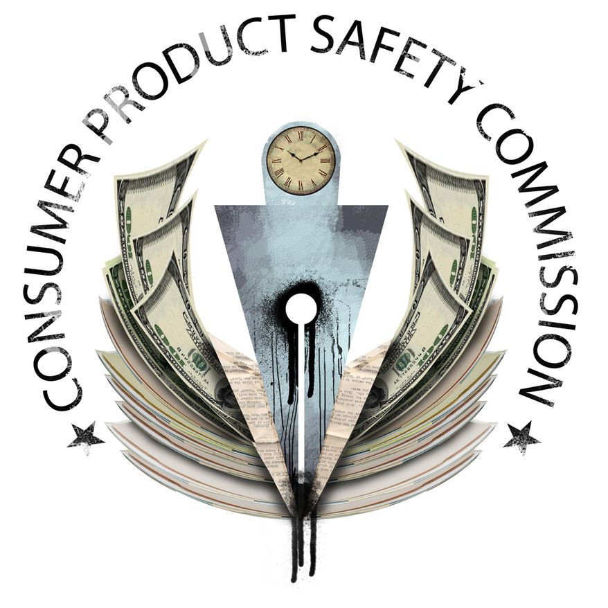 Illustration Consumer Product Safety Commission by Linas Garsys for The Washington Times