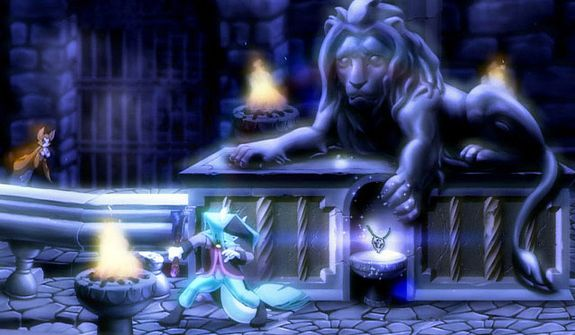 Beautiful, hand painted animation greets a player in the video game Dust: An Elysian Tail.