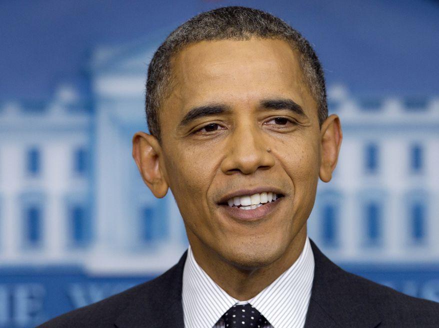 President Obama speaks Aug. 20, 2012, at the White House in Washington. (Associated Press)