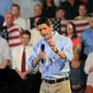 Republican vice presidential candidate Paul Ryan speaks Aug. 21, 2012, during a campaign rally at Beaver Steel in Carnegie, Pa. (Associated Press)
