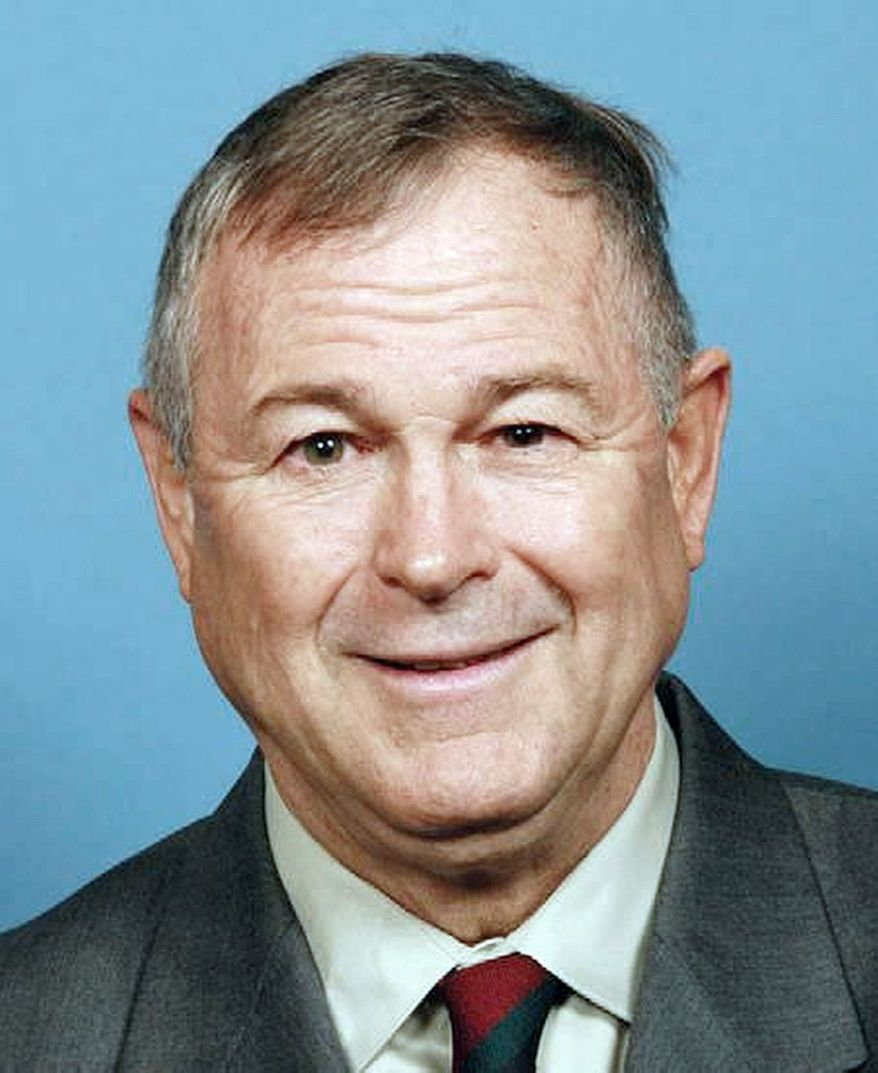 In this 2012 photograph provided by the candidates campaign, Dana Rohrabacher poses for a photo. Dana Rohrabacher is running for the Senate in California. (AP Photo)