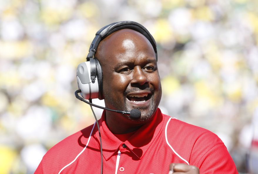 Mike Locksley spent the last two-plus seasons as New Mexico's head coach before being fired last September. It only took him three months to latch on at Maryland, where he'll be Randy Edsall's offensive coordinator. (Associated Press)