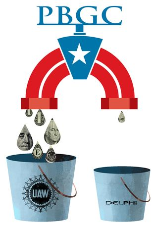 Illustration Unions by Linas Garsys for The Washington Times