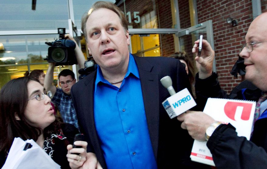 Former Boston Red Sox pitcher Curt Schilling, seen here in May, when his video-game company filed for bankruptcy, received a $75 million loan guarantee from Rhode Island that required aggressive job creation but no plan to seek outside investors. (Associated Press)