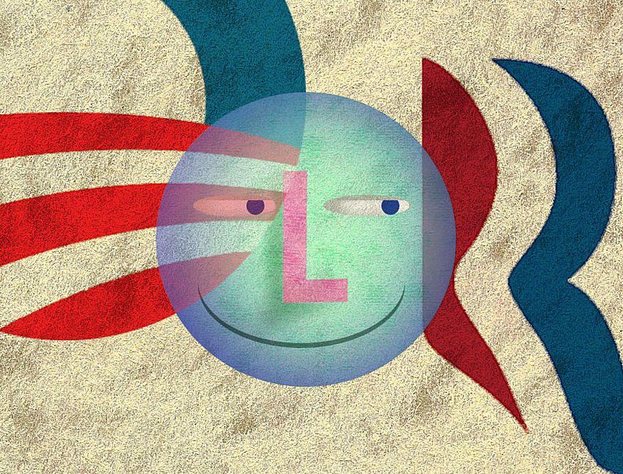 Illustration Libertarian Choice by Alexander Hunter for The Washington Times