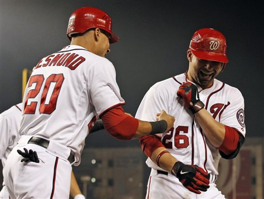 Ian Desmond, Jesus Flores and the Nationals have held at least a share of first place in the National League East since May 22.