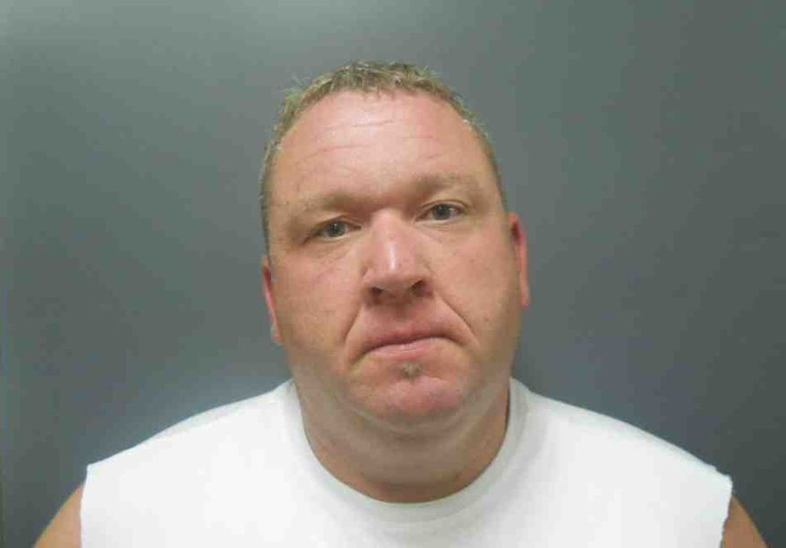Jon Dobbins, who worked at the Wabash Valley Correctional Facility in southwestern Indiana, was indicted on Wednesday, Aug. 22, 2012, along with 39 others in connection with a prison drug ring. (AP Photo/Sullivan County, Ind., Sheriff's Department)