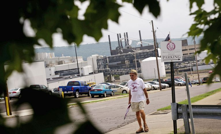 A power plant kept the IBM campus in Endicott, N.Y., running during the boom years. Employees enjoyed good pay, benefits and job security for years, but IBM has not been immune to the economic challenges faced by other U.S. companies. (Rod Lamkey Jr./The Washington Times)