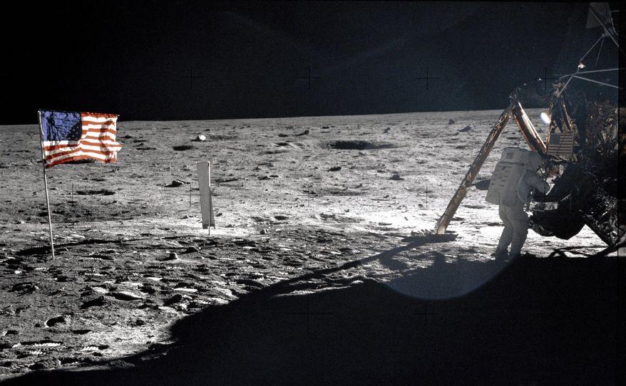 This July 20, 1969, photo from NASA shows Apollo 11 astronaut Neil Armstrong on the lunar surface. (AP Photo/NASA, Buzz Aldrin)