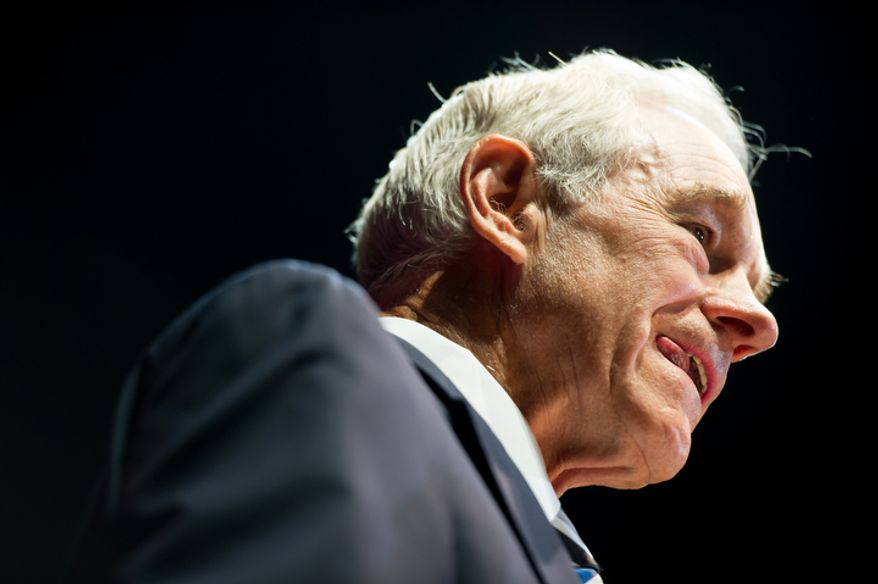 """**FILE** Ron Paul speaks Aug. 26, 2012, during the """"We Are the Future Rally"""" at the Sun Dome at the University of South Florida in Tampa, Fla. (Andrew Harnik/The Washington Times)"""