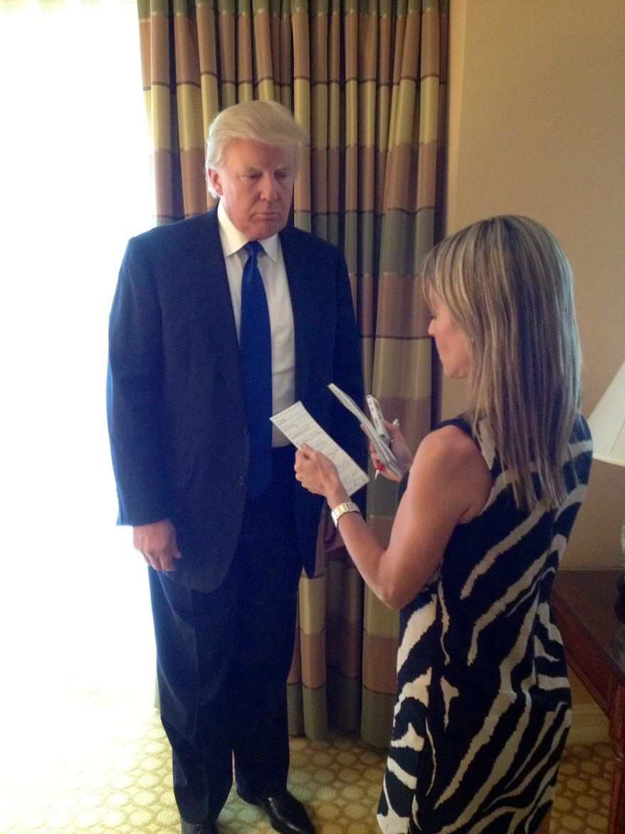 Donald Trump with Emily Miller in Sarasota, Fl.