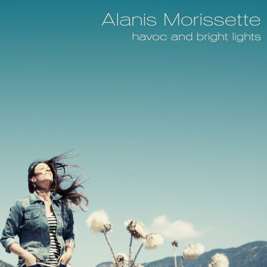 "Album cover for Alanis Morissette ""Havoc and Bright Lights""."