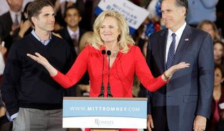 Ann Romney and eldest son Tagg were the only two in the family who voted for another presidential run by the former Massachusetts governor. Yet those two votes out of 12 helped bring Mr. Romney to primary victories and ultimately to the nominating convention. (Associated Press)