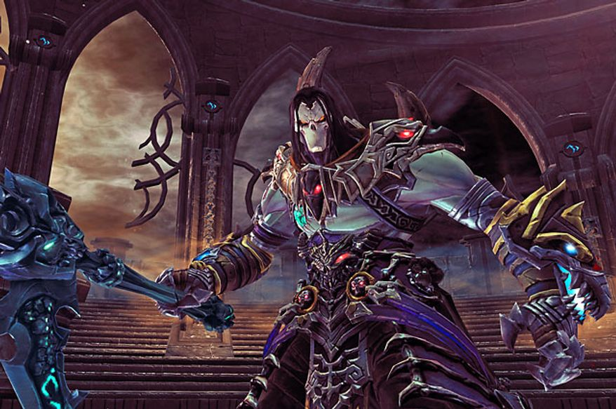 Death collects and wears a variety of armor pieces in the video game Darksiders II.